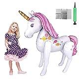 Tumao Unicornio Globos Grandes, Decoraciones de Fiesta de Cumpleaños Súper Unicornio...