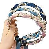 Diadema trenzada de perlas, bandue diadema, dulce y súper hada, accesorios para el...