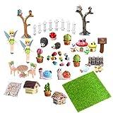 EQLEF Miniaturas Jardin, Mini Accesorios de Hadas para jardín Adornos en Miniatura para...