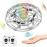 Baztoy UFO Mini Drone, RC Helicopteros Teledirigidos & Control de Mano de 360° Rotación...