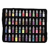 Pongnas 48 Botellas De Color Brillo Lentejuelas En Polvo Decoración DIY Joyas Epoxi...