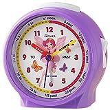 Ravel Reloj despertador infantil para mesita de noche, diseño de hada, color