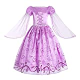 ReliBeauty – Vestido Princesa Rapunzel Traje de Cuento de Hadas para niña -140 cm, Lila