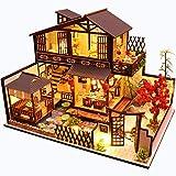 Fsolis Miniatura de la casa de muñecas con Muebles, Equipo de casa de muñecas de Madera...