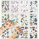 Tatuajes temporales para niños ZEHROK 12 hojas de pegatinas temporales luminosas con...