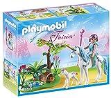 PLAYMOBIL Hadas - Hada Aquarella en la Pradera del Unicornio, Playsets de Figuras de...