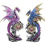 Nemesis Now - Juego de 2 protectores de figuras 15cm, color morado
