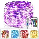 Guirnalda Luces Multicolor, 5M 50 LED Luces de Hadas con Control Remoto, 16 Colores 4...