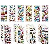 Vicloon Pegatinas para Niños 500+ 3D Puffy Pegatinas, 22 Hojas Variedad de Pegatinas para...