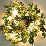 Hiedra Artificial, enredaderas artificiales, decoracion habitacion aesthetic Luces de...