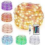 Kohree Guirnalda Luces LED, 10M 16 Colores USB Guirnalda Luces de Hadas Navidad Luces...